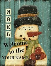 Personalised Large 250x200 Christmas Family Sign Welcome Plaque Shabby Chic