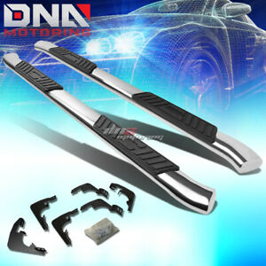 """FOR 15-20 CHEVY COLORADO CREW STAINLESS 5""""CHROME CURVED OVAL STEP NERF BAR KIT"""