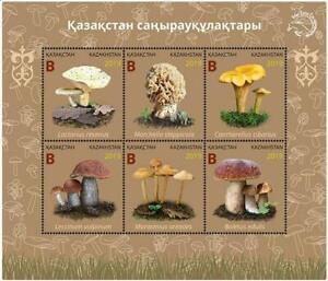 Kazakstan 2019.  Souvenir sheet. Mushrooms. NEW!!!