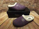 Ladies Cushion Walk Lilac Mock Suede Cushioned Mule Slippers Size UK 5
