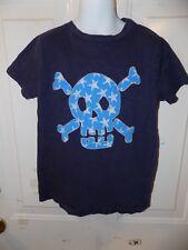 MINI BODEN Skull + Crossbones BIG APPLIQUE T-SHIRT SIZE 6/7Y BOY'S EUC