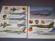 VINTAGE..F-16A VARIANTS..COLOR PROFILES/HISTORY...(650G)