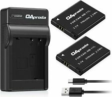 OAproda 2 Pack NB-11L Battery and USB Charger for Canon PowerShot ELph 180, E...