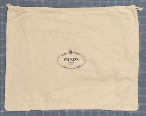 Large PRADA Cotton Flannel Dust Bag Cover 17 X 21