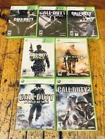 Lot of 7 Call of Duty Games - Xbox 360 - Black Ops 1 & 2, Modern Warfare 2 & 3 +
