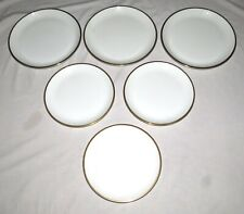 "Wedgwood Plato Gold SIX Plates: Three 10.3/4"" Dinner + Three 9.3/8"" Salad"