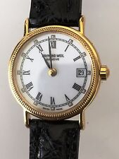 Ladies RAYMOND WEIL 18K Gold Plated, new crocodile band. Quartz watch.