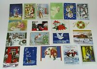 19 PIECE MIXED CHRISTMAS HOLIDAY CARD LOT BEAUTIFUL DECOR UNUSED / NO ENVELOPES