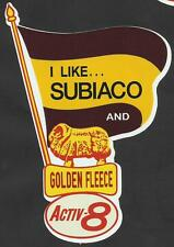SUBIACO & GOLDEN FLEECE Vinyl Decal Sticker PETROL afl vfl WAFL LIONS