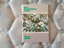 1975 PHILADELPHIA EAGLES MEDIA GUIDE Yearbook Press Book Program NFL Football AD
