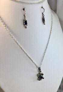 Sterling Iolite Pendant, Earrings,NEW
