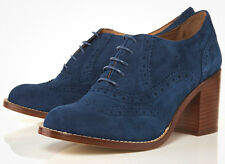 TOPSHOP JEEVES2 MID HEEL SUEDE BROGUES SHOES SIZE 6 / 39