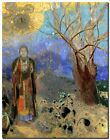 "Odilon Redon Buddha Abstract Art CANVAS PRINT painting poster 24""X16"""