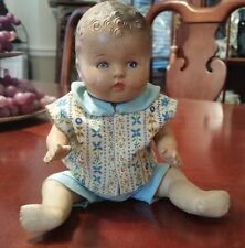 """Antique Composition Jointed Baby Doll 9.5"""""""