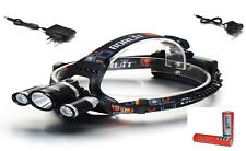 WATERPROOF HEADLAMP/HEADLIGHT,BATTERIES,CHARGER,RUNNING,BICYCLE BIKE LIGHT