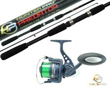 Pike Bass Spinning Rod & Reel. 2.1m Hunter Pro 2pc Rod & HP60S Reel with Line
