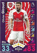 2016 / 2017 EPL Match Attax Base Card (34) Oliver GIROUD Arsenal