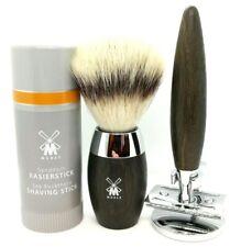 Muhle KOSMO Bog Oak Shaving Set- Razor/Brush & Stand