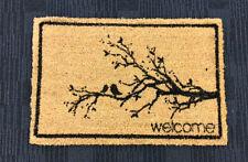DOORMAT -  Welcome / Branch Coir Door Mat Rubber Backing  NEW
