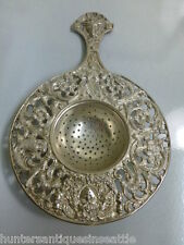 Antique Kremos Roma Fine Silver Over -the-cup Tea Strainer Classical Design