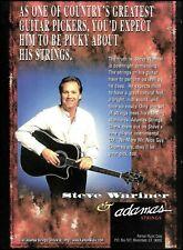 Steve Wariner 1996 Adamas Strings on Signature Takamine Black guitar ad print
