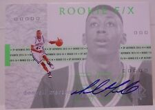 2013-14 UD SP Authentic Donyell Marshall Rookie F/X Autograph rookie # 75 UCONN