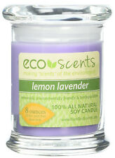 EcoScents SET OF 3 Lemon-Lavender ALL SOY WAX Candle, 8 oz + 50 Hrs Burn Time ea
