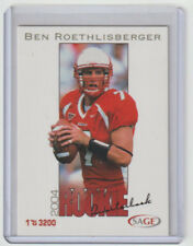 BEN ROETHLISBERGER Steelers 2004 Sage #35 SP RC Mint / ONLY 3200 Made