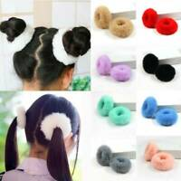 Fashion Fluffy Faux Fur Furry Scrunchie Elastic Hair Ring Rope Band Tie Girls