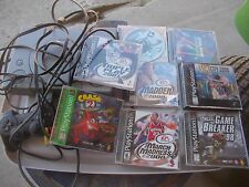 Sony PlayStation Launch Edition Gray Console (SCPH-7501) W/ 8 GAMES BUNDLE