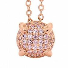 Georgini P646P Sterling Silver Rose Gold Plated Bellevue Pink Pendant RRP$129