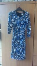 Reiss blue flower print jersey shift dress Size S