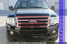 GTG 2007 - 2014 Ford Expedition 4PC Gloss Black Billet Grille Grill Insert Kit