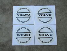 Volvo emblems stickers decals for aftermarket hubcaps black letters
