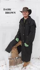 Oilskin Egyptian cotton duster riding jacket waterproof windproof - brown -black