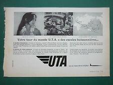 11/1968 PUB UTA AIRLINE TRANSPORT AERIEN AIRLINER TAHITIENNE TAHITI ORIGINAL AD