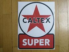 Tanksäule Tankzapfsäule Tankstelle Caltex Aufkleber gaspump decal pompe essence