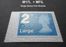 2017 2nd LARGE M17L + MFIL MACHIN SINGLE STAMP from Booklet