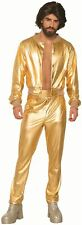 Disco Cantante Oro Brillante Lame 70s Vintage Hombre Retro Disfraz Halloween