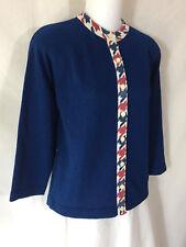 Vintage 1960's Blue Talbott Travler Dacron Polyester Button Cardigan Sweater 38