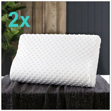 2x Memory Foam Pillow Neck Support Breathable Washable Cover Sleeper