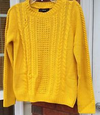 Forever 21 Women's Size Small Sweater Mustard Yellow Top Pullover NWT A98