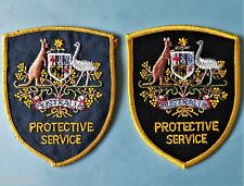 NSW AUSTRALIAN FEDERAL POLICE PROTECTIVE SERVICE PATCHES BLACK & BLUE  FACIAS