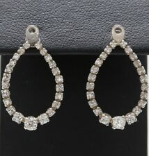18k WG & Diamond Earring Jackets