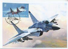 maxi card 1 fighter MIG 29 Bulgaria 2019 Aviation Air Force Mi BG 5431