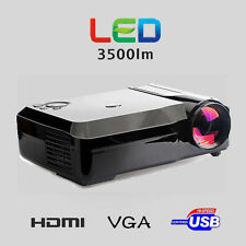 HD Projector 3500 Lumen Multimedia Video 1080P Native 1280x800 HDMI US