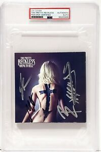The Pretty Reckless Band TAYLOR MOMSEN +3 Signed CD Cover Slabbed PSA/DNA