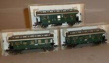 3 Fleischmann DRG Personenwagen 2. 3. Kl. Postpackwagen in OVP 5066 5066 5067