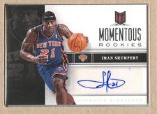 Iman Shumpert 65 2012-13 Momentum Momentous Rookies Autograph Auto