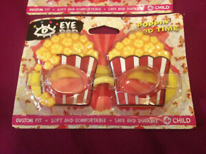 Poppin' Good Time Play Goggle Mask~Child's Popcorn Swim Goggles~NEW~Eye Pop~